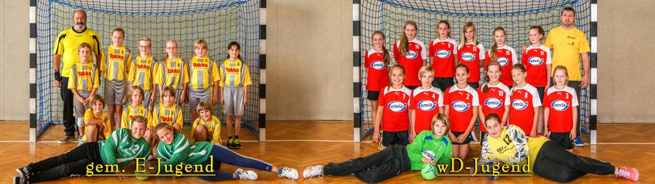 2015-09-21 Mannschaftsfoto gem. E-Jugend + wD Jugend